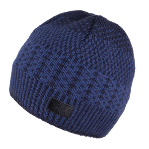 Knit Hat Navy Blue with Snood 3-004177