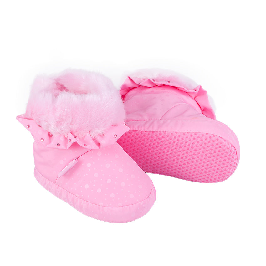Winter Booties With Frills Pink 3-004262