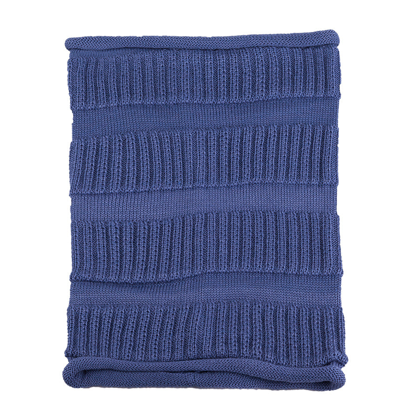 Snood Scarf Merino Wool Navy 3-004328