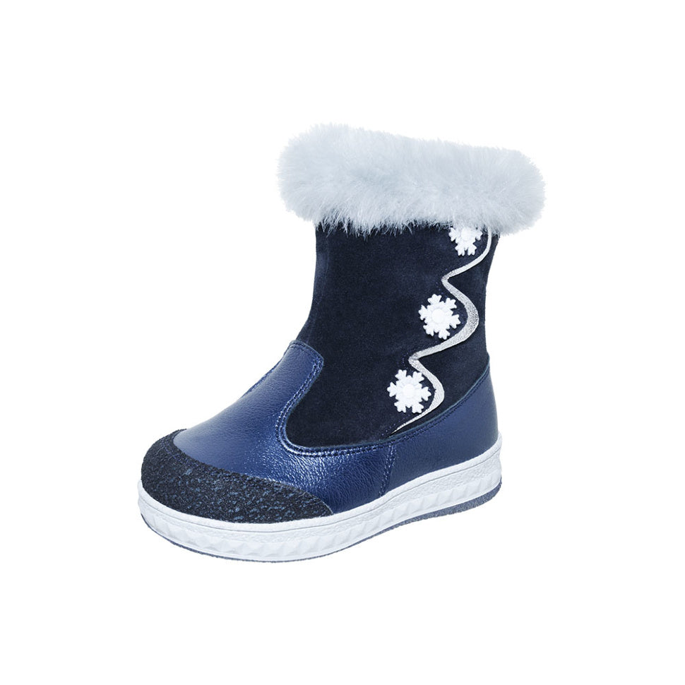 Winter Snowflake Blue With Fur Top 3-1085