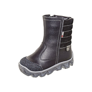 Winter Boot With Zipper Black 3-1095