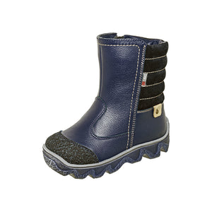 Winter Boot With Zipper Blue 3-1095