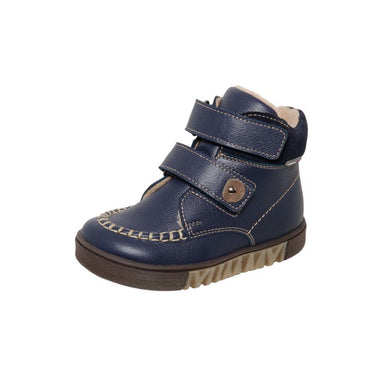 Fall/Spring Leather Boot with Two Straps Blue 3-1195