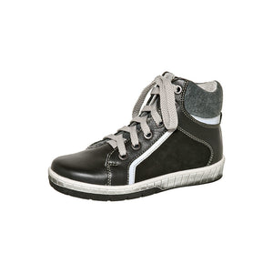 Fall/Spring Leather Running Shoe High Top with Zipper Youth 3-872