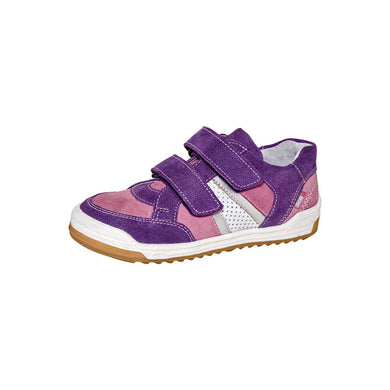 Fall/Spring Running Shoe Double Velcro Strap  Purple 3-881