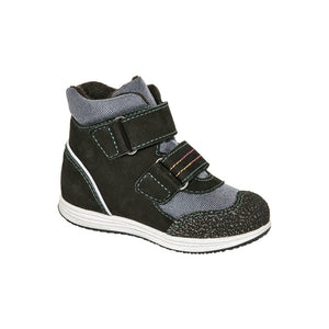 Fall/Spring Leather Running Shoe High Top Child 3-882