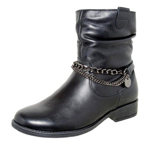 Fall/Spring Chain Mid-Calf Boot 4-1089