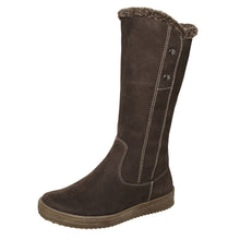 Winter 2 Button Tall Boot Brown 4-1145