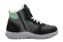 Fall/Spring Boys Running Shoe with Zipper Grey/Green 452080-23