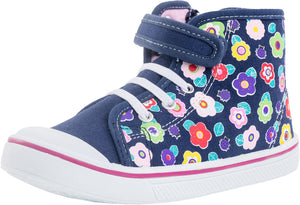 Girls Spring Running Shoe Youth Flowers Hi-Top 541019-11