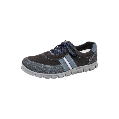 Spring Leather Running Shoe with Kevlar Blue 6-1045