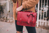 Women's Vintage Bow Small Briefcase | ecosusi