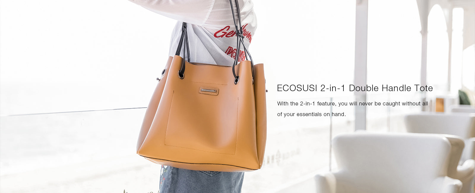 Top Handle PU Leather Satchel Women's Shoulder Strap Bucket Bag Fashion Purse 2 Pieces