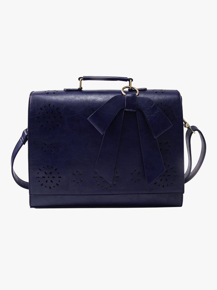 Women's Faux leather Bow Briefcase