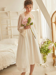 Women's two-piece lace nightgown