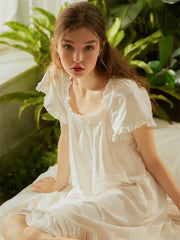 Princess cute combed cotton nightdress