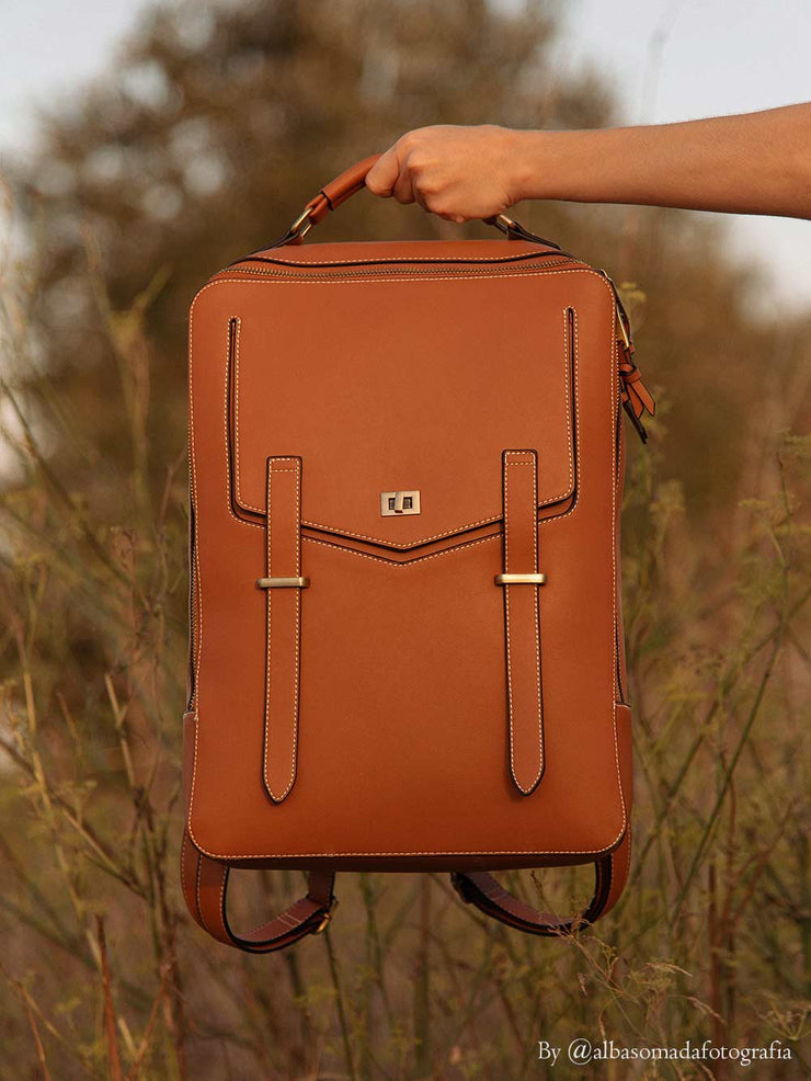 Double Zipper Multi-Function Retro Backpack