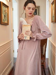 Mink velvet nightdress