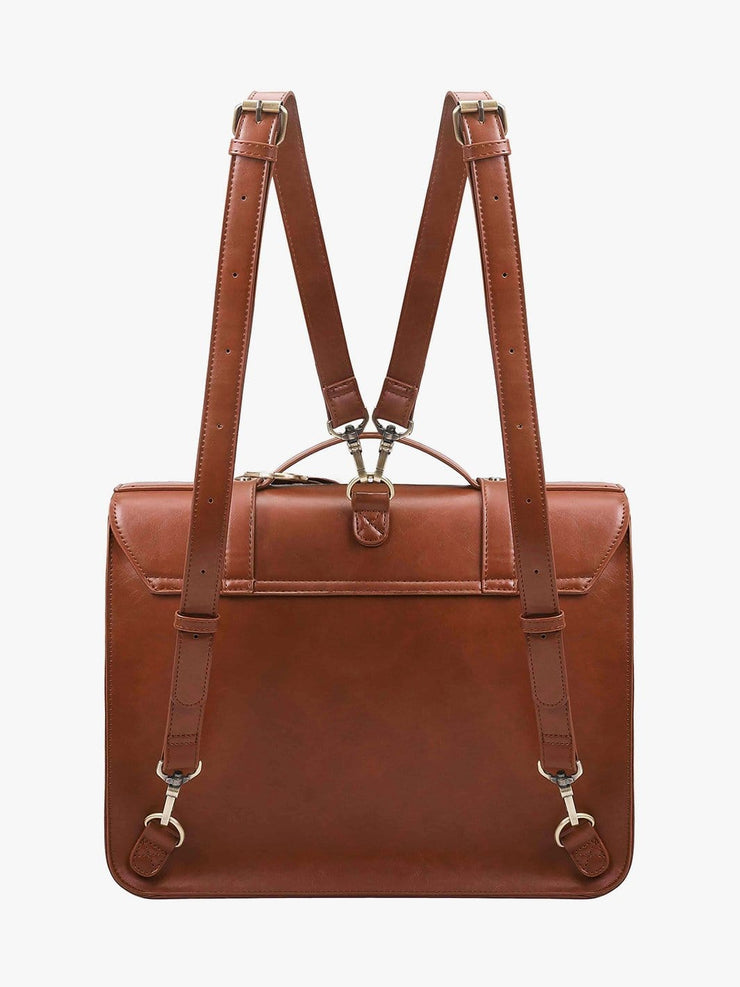 Women's PU Detachable Bow Briefcase