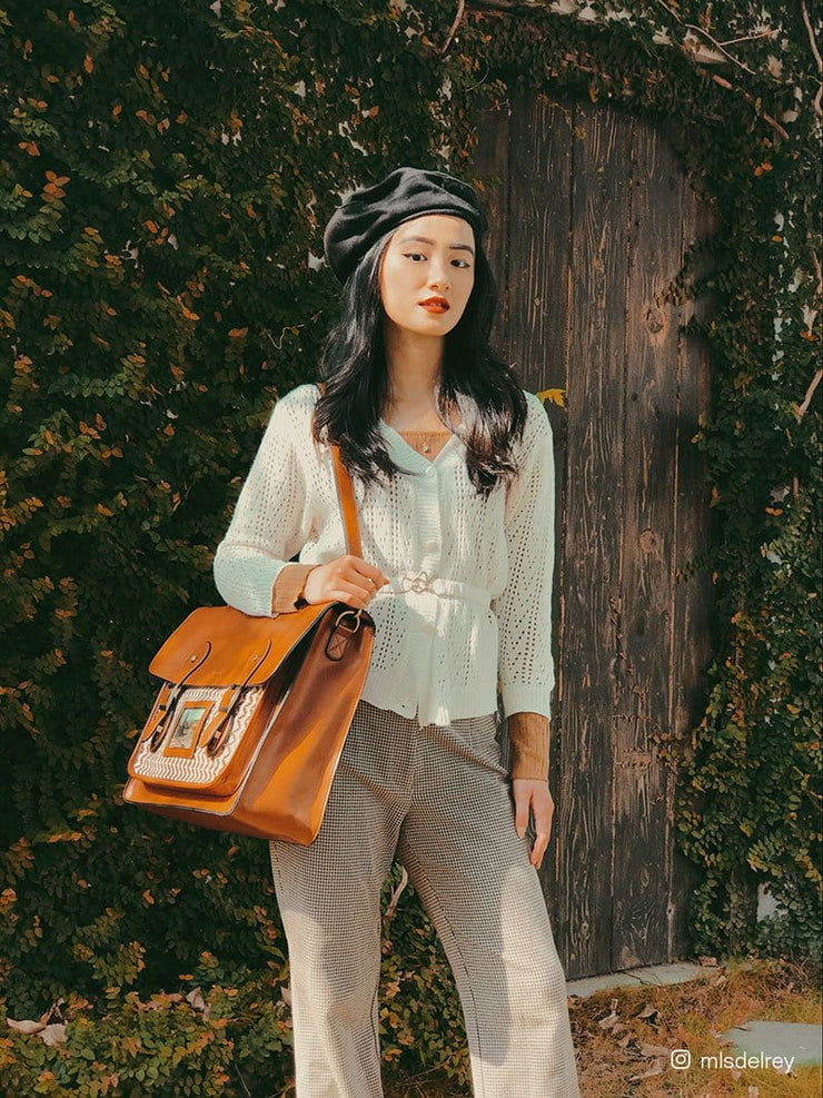 Waffles - Women's Vintage Messenger Bag