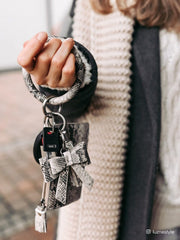 Wristlet Keychain with Tassel & Bow