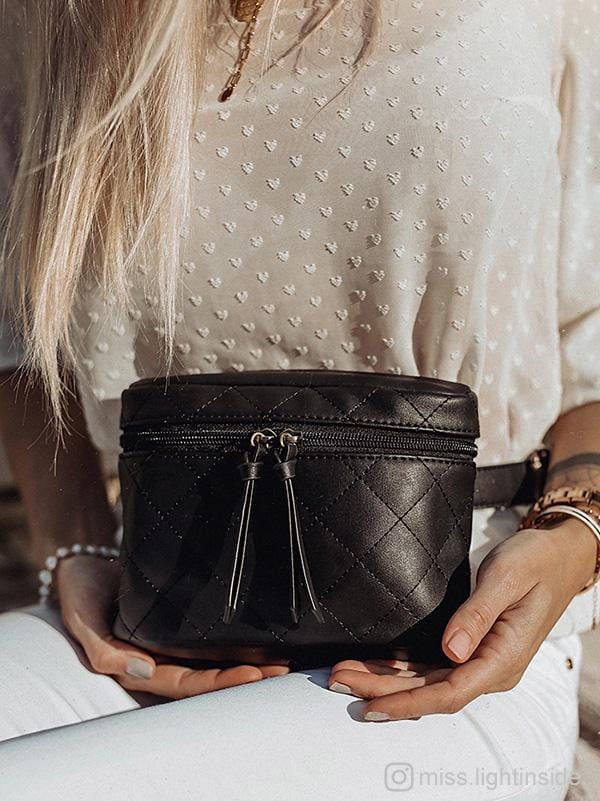 Quilted Vegan Leather Waist Bag