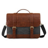 ECOSUSI Vintage Laptop Messenger Bag Briefcase Computer Satchel Fits 15.6 inch Laptops