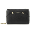 Women Wallet Leather Accordion RFID Blocking Card Holder Organizer Cute Cat Ear Design Purse