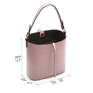 Womens Bucket Bag Top Handle Handbags PU Leather Satchel Purse Tote Cross Body Shoulder Bag