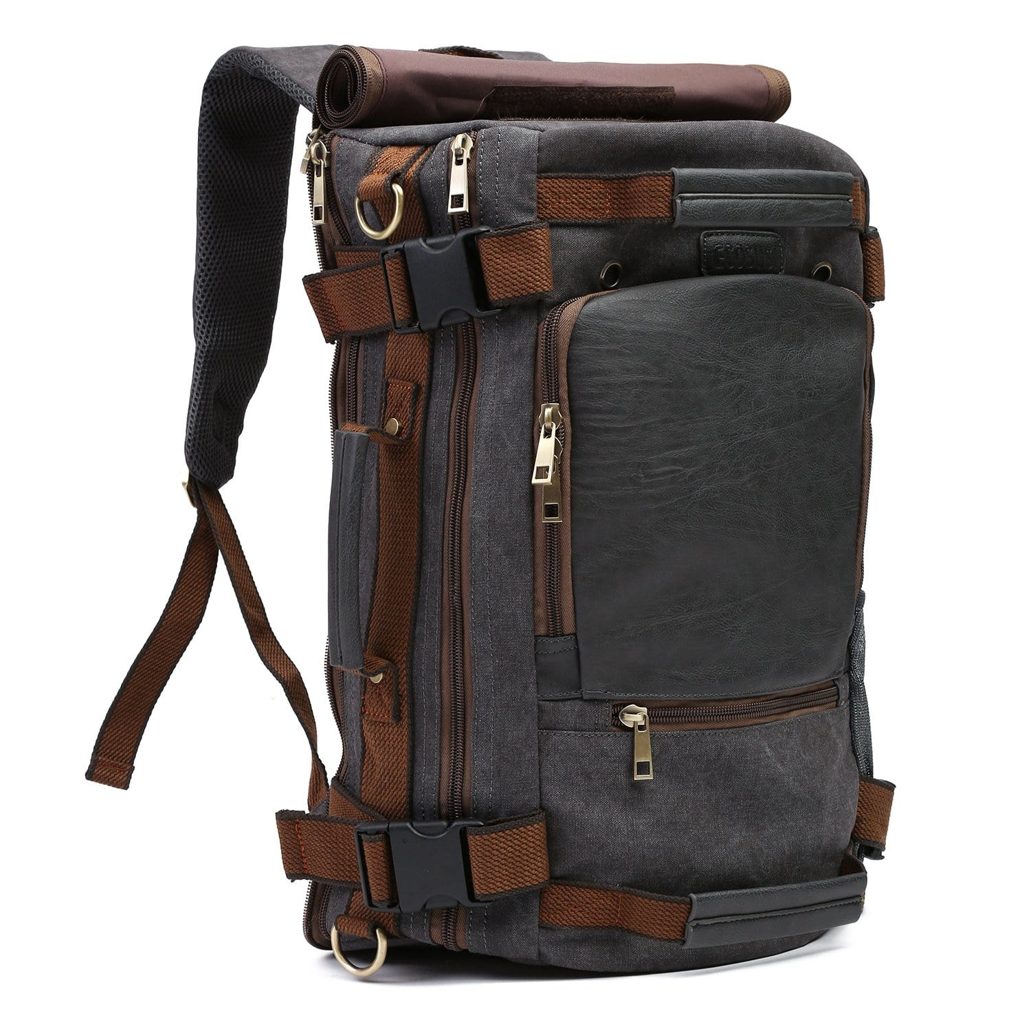 201f78ba2e Vintage Canvas Tactical Backpack Multifunctional Shoulder Straps Travel  Duffel Bag Rucksack Hiking Bag