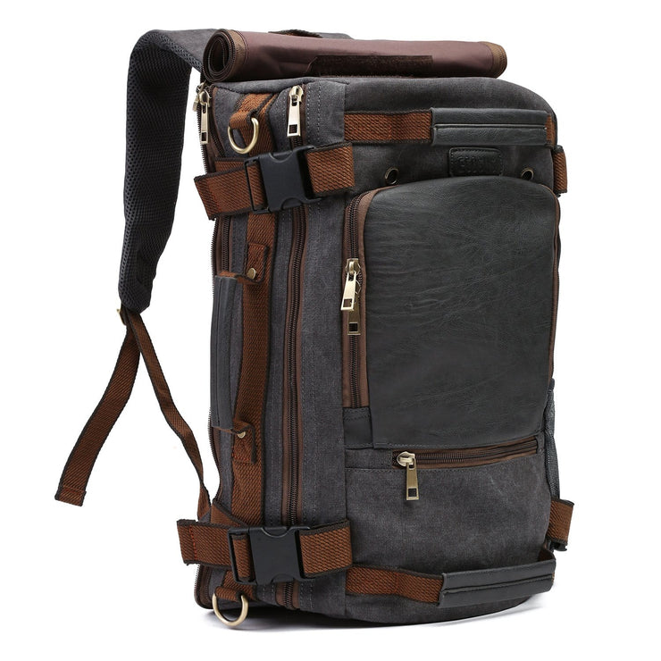 Vintage Canvas Tactical Backpack Multifunctional Shoulder Straps Travel Duffel Bag Rucksack Hiking Bag