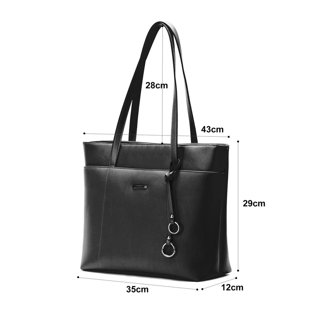 6a2b957aa45 Women's Faux Leather Totes Fits 14'7 inch Laptop | ECOSUSI