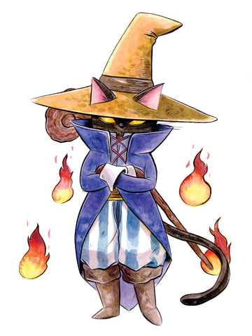Black Mage Cat Print