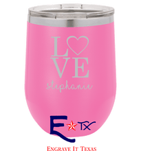Love Artwork on 12 oz. Wine Tumbler