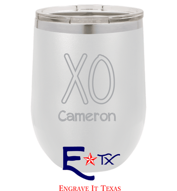 XO Artwork on 12 oz. Wine Tumbler