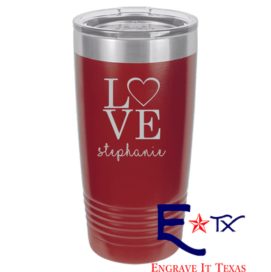 Love Artwork on Ringneck Polar Camel 20 oz. Tumbler
