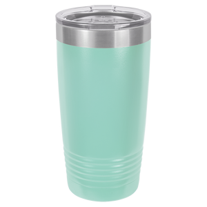 Inverse Circle Monogram on Ringneck Polar Camel 20 oz. Tumbler