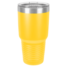 Finally 21 Birthday Hashtag on 30oz. Tumbler - Lemon Design