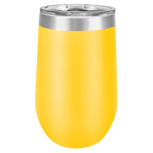 Finally 21 Hashtag Birthday Artwork on 16 oz. Stemless Tumbler - Lemon Design