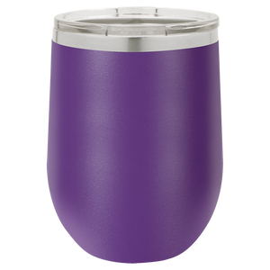 Inverse Circle Monogram on 12 oz. Wine Tumbler
