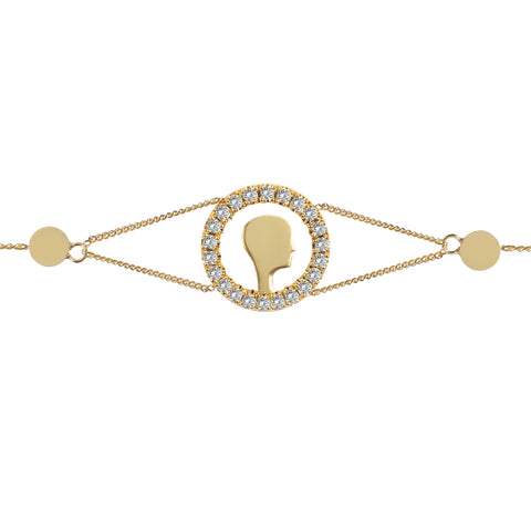 Diamond Face Bracelet