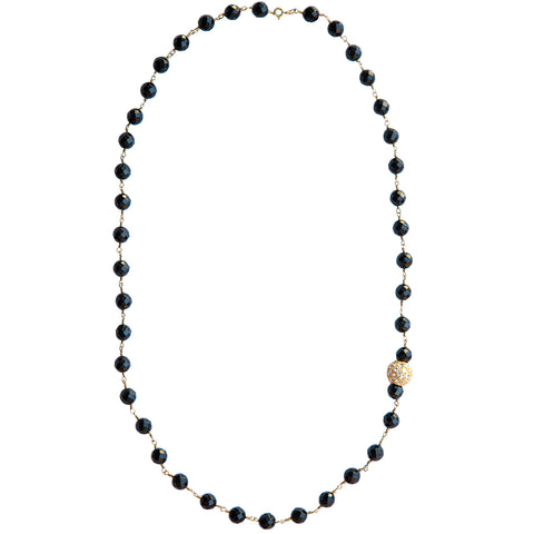 Onyx Diamond Necklace