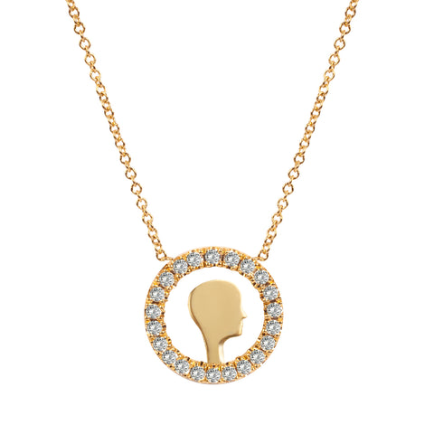 Diamond Face Necklace
