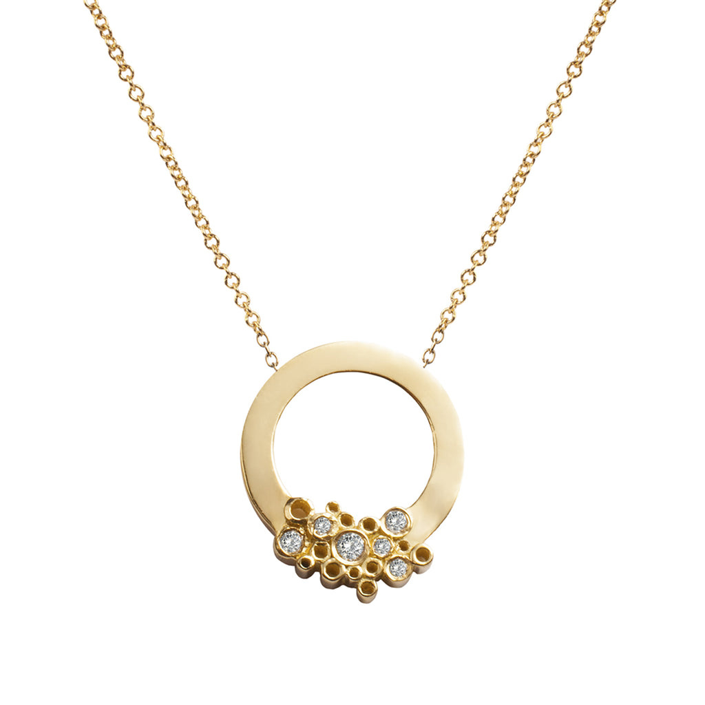 Round with Diamonds Necklace