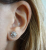 Stud and Hanging Flower Earrings