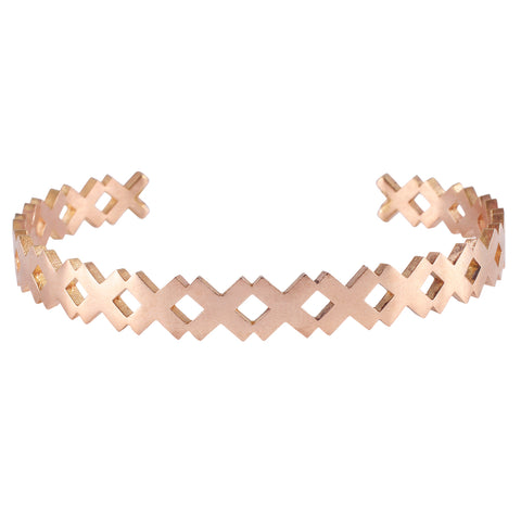 X Solid Bangle