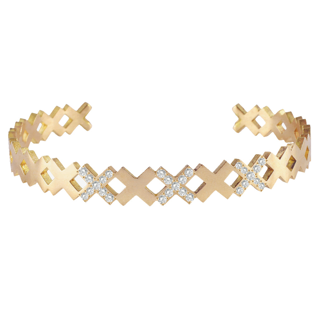 X Diamond Bangle