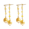 Pearls and Yellow Sapphire Earrings