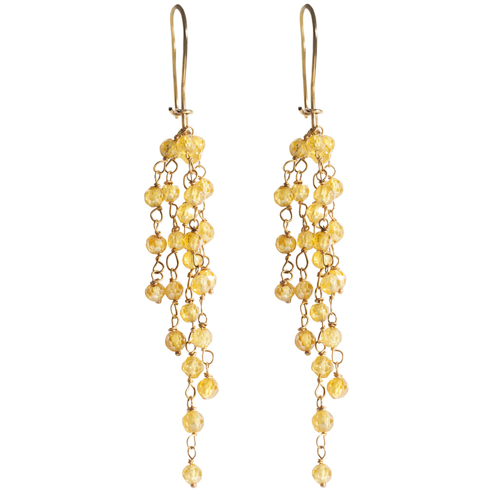 Yellow Sapphire Earrings