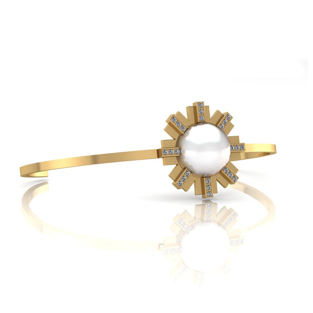 Sun Bangle and South Sea pearl
